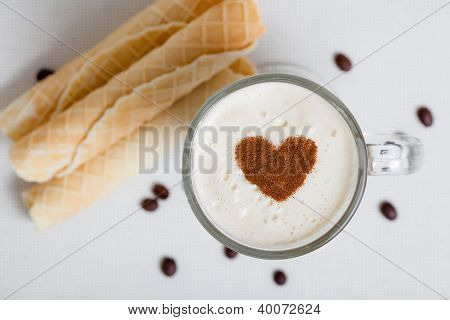 Cup of Cappuccino with Pastry