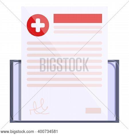 Telemedicine Prescription Icon. Cartoon Of Telemedicine Prescription Vector Icon For Web Design Isol