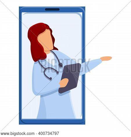Telemedicine Medical Communication Icon. Cartoon Of Telemedicine Medical Communication Vector Icon F