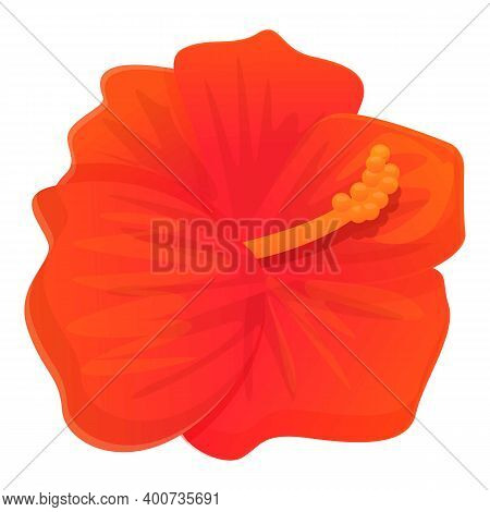 Garland Hibiscus Icon. Cartoon Of Garland Hibiscus Vector Icon For Web Design Isolated On White Back