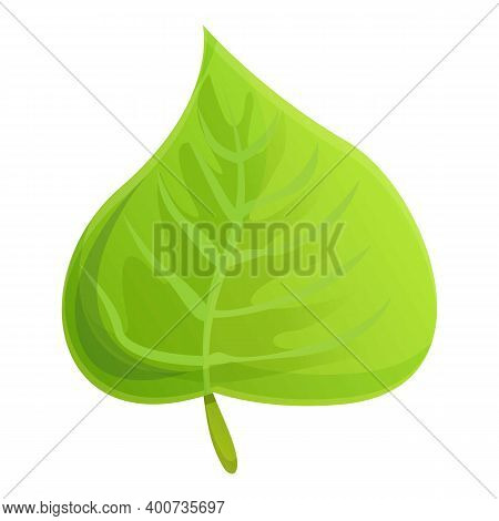 Garland Hibiscus Leaf Icon. Cartoon Of Garland Hibiscus Leaf Vector Icon For Web Design Isolated On
