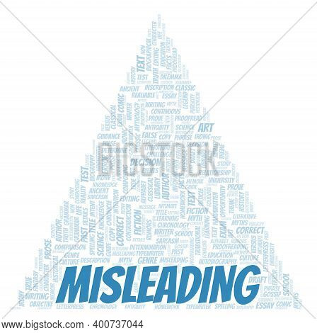 Misleading Typography Word Cloud Create With Text Only