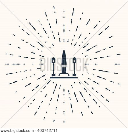 Grey Place De La Concorde In Paris, France Icon Isolated On Beige Background. Abstract Circle Random