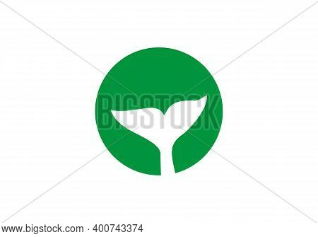Modern Whale Tail Icon Vector. Whale Tail Sign On White Background.