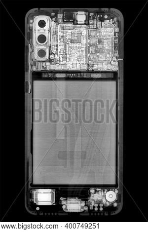 Radiography Of A Smartphone, Acquired With Digital X-ray System