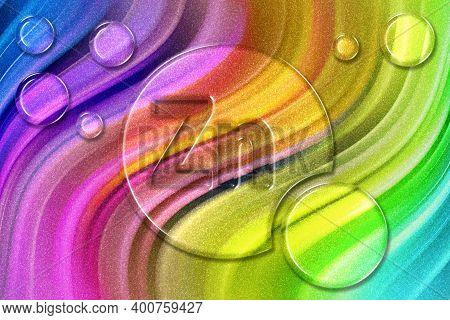 Element Zn Zinc, Mineral Vitamin Complex Dietary Supplement, Rainbow Glitter Background
