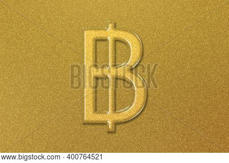 Thai Baht, Thb Baht Currency, Monetary Currency Symbol, Gold Background