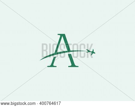Simple And Modern A Letter Logo With Modification