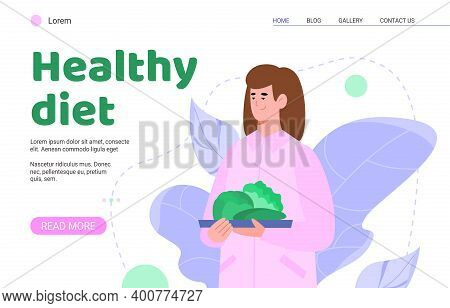 Doctor Nutritionist With Plan Of Healthy Diet. Recommendations Of Woman Dietitian On Nutrition For W
