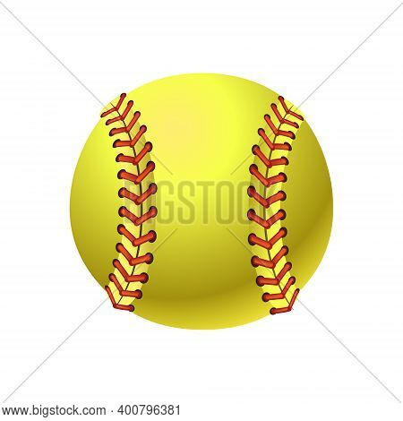 Softball Illustration Isolated On White Background. Sport. Vector Illustration