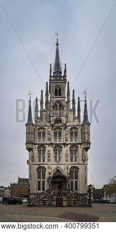 Gouda, Netherlands, November 2018 - Town Hall In The City Of Gouda, Netherlands