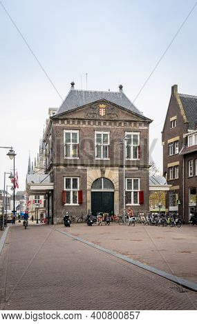Gouda, Netherlands, November 2018 - Rear Of The Weigh House In The City Of Gouda, Netherlands