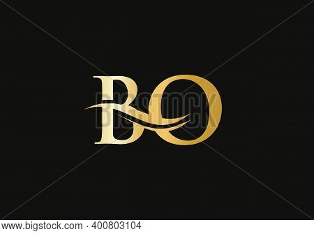 Initial Bo Letter Logo With Creative Modern Business Typography Vector Template. Creative Abstract L