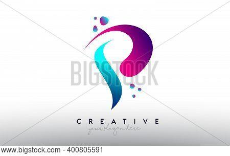 P, P, Blue, Purple, Colorful, Bubble, Gum, Bubble Gum, Fluid, Rainbow, Typography, Logo, Concept, Ve