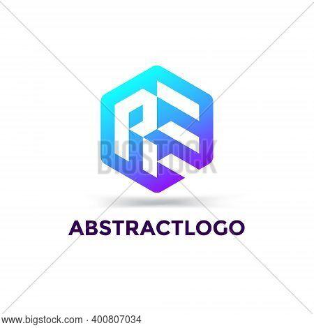 Creative Re Joint Letter Minimal Logo Monogram Vector