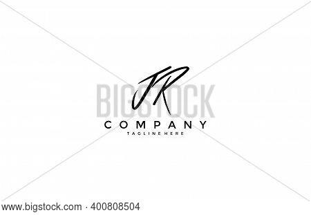 Calligraphy Signature Letter Jr Logotype Design Vector