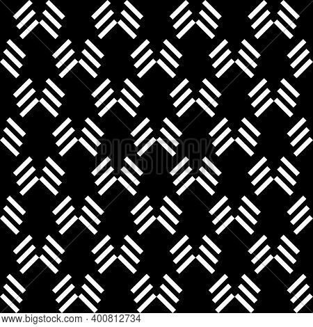 Seamless Pattern. Linear Ornament. Angled Stripes Motif. Diagonal Lines Background. Slanted Dashes I