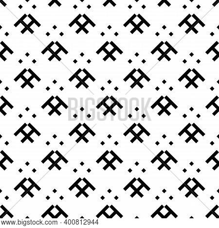 Seamless Pattern. Rhombuses, Figures Ornament. Diamonds, Shapes Wallpaper. Ethnic Motif. Forms, Chec