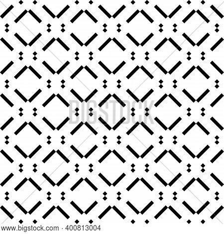 Seamless Pattern. Diagonal Lines, Diamonds Ornament. Slanted Dashes, Squares Background. Striped, Do