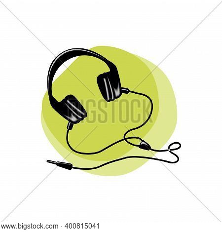 Headphones Icon Isolated On A White Background In Eps10