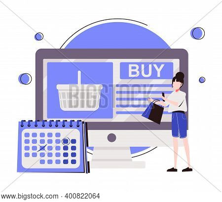 Order Processing Abstract Concept Vector Illustration. Inventory Management, Warehouse Processing So