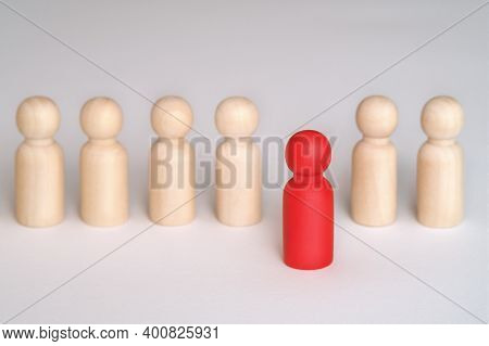 People Standing Out From The Crowd. Human Resource, Talent Management, Recruitment Employee, Success