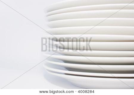 Stack Of White Dinner Plates