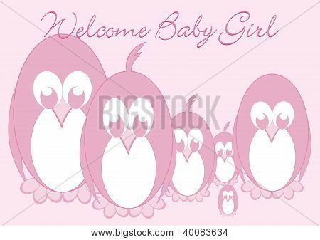 Welcome Baby - Penguin Girl