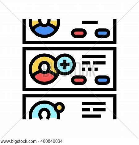 List Of Prospective Friends Color Icon Vector. List Of Prospective Friends Sign. Isolated Symbol Ill