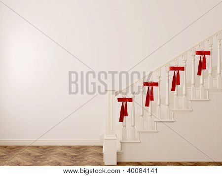 Staircase With Bows