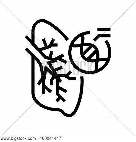 Cystic Fibrosis Respiratory Disease Line Icon Vector. Cystic Fibrosis Respiratory Disease Sign. Isol