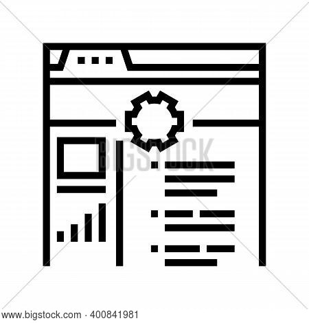 Internal Services Line Icon Vector. Internal Services Sign. Isolated Contour Symbol Black Illustrati