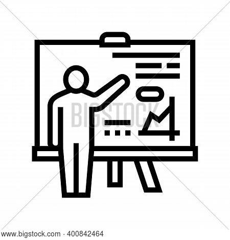 Pupil Presentation Line Icon Vector. Pupil Presentation Sign. Isolated Contour Symbol Black Illustra