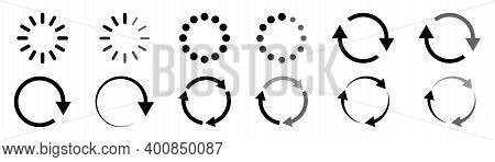 Loading Indicator. Progress Bar. Load Icons Collection. Isolated Process Vector Sybmol. Download Sig