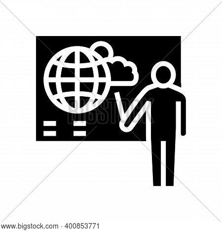 Weather Forecast Glyph Icon Vector. Weather Forecast Sign. Isolated Contour Symbol Black Illustratio