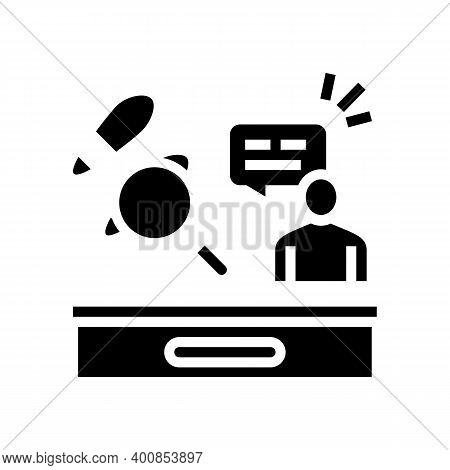 Crime News Glyph Icon Vector. Crime News Sign. Isolated Contour Symbol Black Illustration