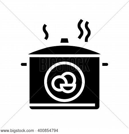 Boiling Peas Glyph Icon Vector. Boiling Peas Sign. Isolated Contour Symbol Black Illustration