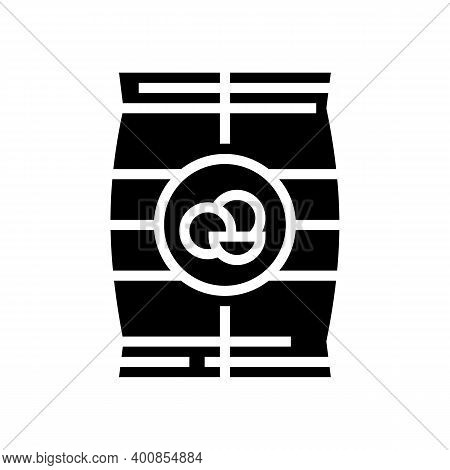 Dry Peas Bag Glyph Icon Vector. Dry Peas Bag Sign. Isolated Contour Symbol Black Illustration