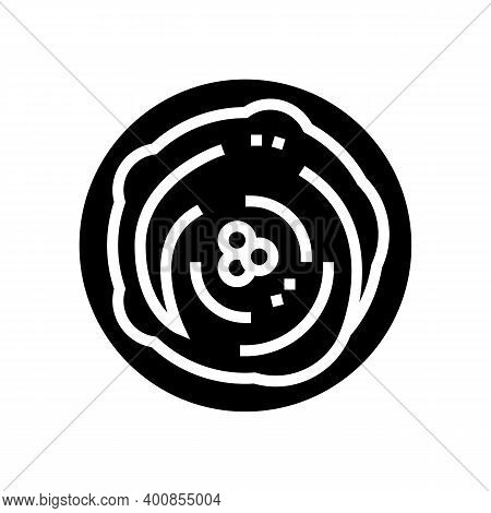 Porridge With Peas Glyph Icon Vector. Porridge With Peas Sign. Isolated Contour Symbol Black Illustr