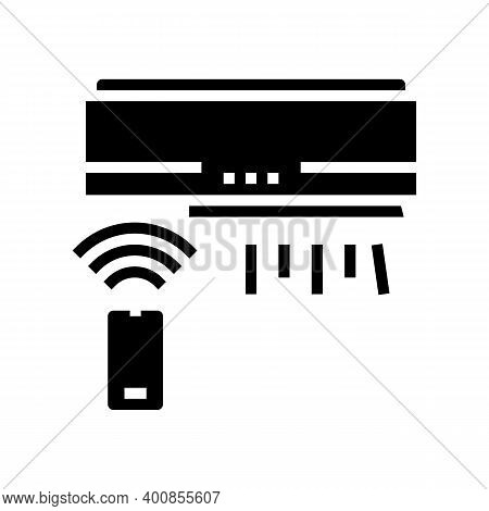 Air Conditioning, Climate Control System Glyph Icon Vector. Air Conditioning, Climate Control System