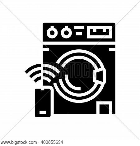 Washer Remote Control Glyph Icon Vector. Washer Remote Control Sign. Isolated Contour Symbol Black I
