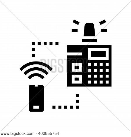 Security System Main Panel Glyph Icon Vector. Security System Main Panel Sign. Isolated Contour Symb