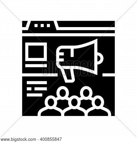 Internal Communities Glyph Icon Vector. Internal Communities Sign. Isolated Contour Symbol Black Ill
