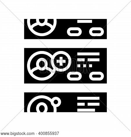 List Of Prospective Friends Glyph Icon Vector. List Of Prospective Friends Sign. Isolated Contour Sy