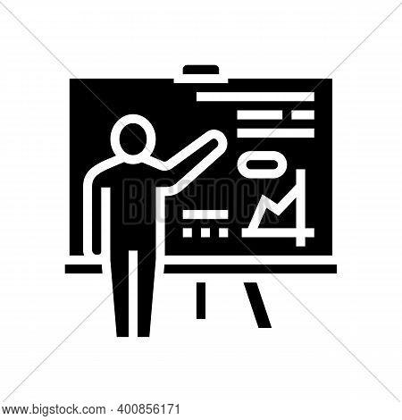 Pupil Presentation Glyph Icon Vector. Pupil Presentation Sign. Isolated Contour Symbol Black Illustr