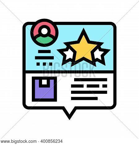 Testimonial Feedback Color Icon Vector. Testimonial Feedback Sign. Isolated Symbol Illustration