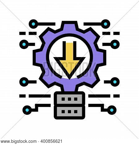 Integration System Color Icon Vector. Integration System Sign. Isolated Symbol Illustration