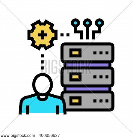 Administrator System Color Icon Vector. Administrator System Sign. Isolated Symbol Illustration