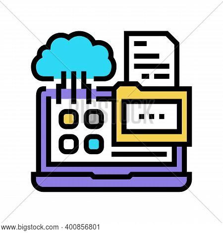 Management System Color Icon Vector. Management System Sign. Isolated Symbol Illustration