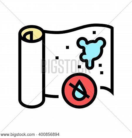 Non-waterproof Wallpaper Color Icon Vector. Non-waterproof Wallpaper Sign. Isolated Symbol Illustrat